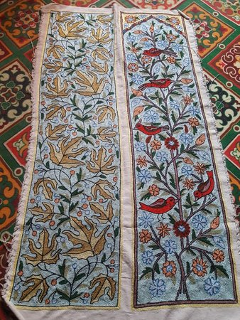 Handmade Wall hangings and bed runners from the valley of Kashmir..... I proud my craftsman