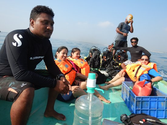 Samudra Adventures: Divers Heading to dive site by boat