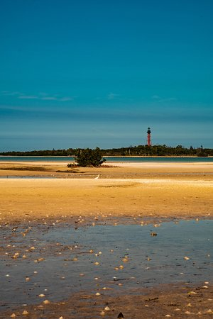 Anclote Keys Lighthouse from afar.