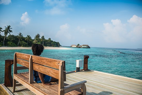 Pier Looking At Water Villas Picture Of Reethi Faru Resort