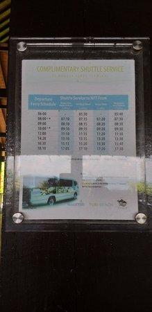 Shuttle Bus Schedule at Turi Beach Hotel