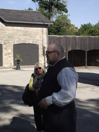 CANADA - HAMILTON - DUNDURN CASTLE #3 - OUR GUIDE & ONE OF MY FRIENDS
