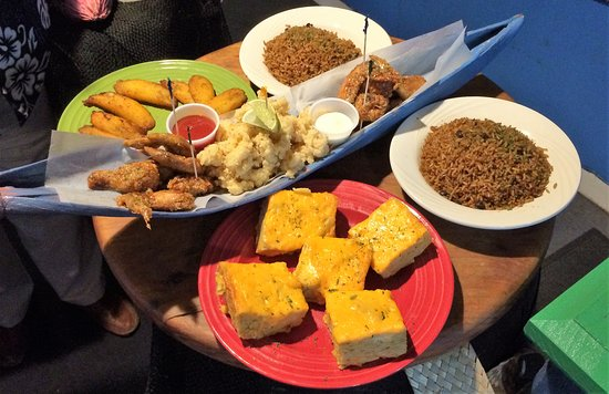 """EAT Bahamas Tours: Check out the """"grinds"""" from Drifter's Restaurant & Bar! All local delicaies!"""