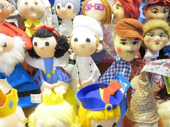 Munich, Germany: Puppets at the Christmas market in Marienplatz
