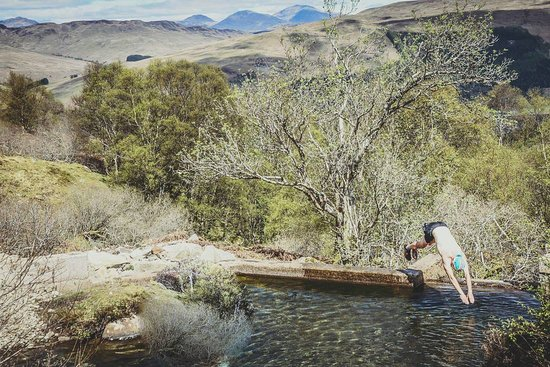 Wild swimming. Landscapes around the Croft.