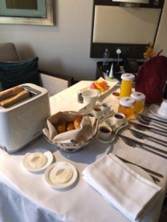 Breakfast in the room...