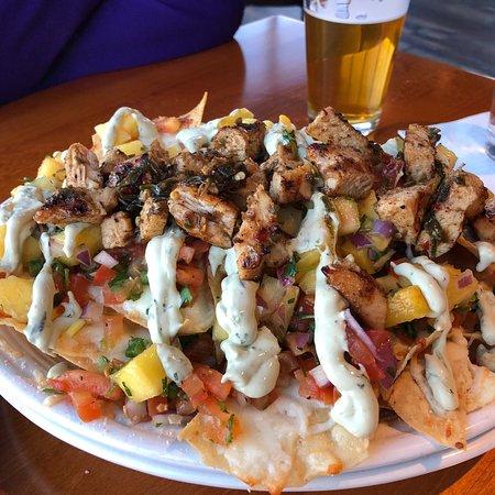 Forest Lake, MN: Jerk chicken nachos