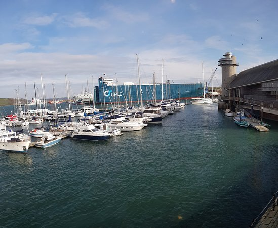 View From The Table Overlooking Falmouth Harbour Stitched
