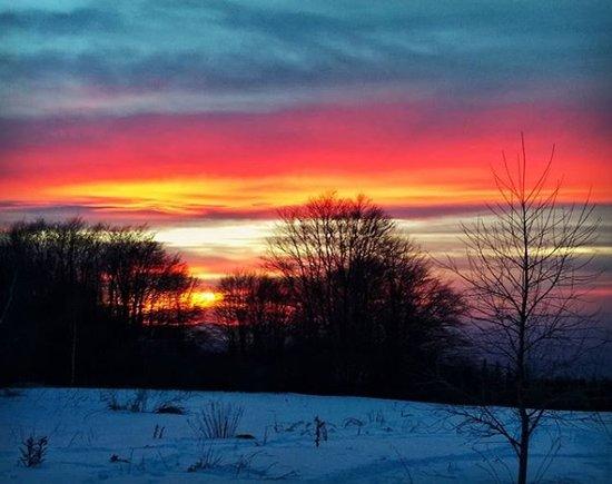 Vitosha Mountain: Just a regular winter sunset near Momina Skala Hut.