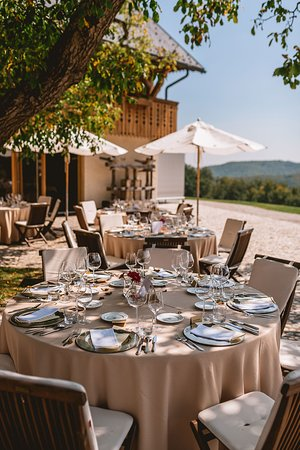 Trebelno, Slovenia: Terrace ready for a very nice lunch