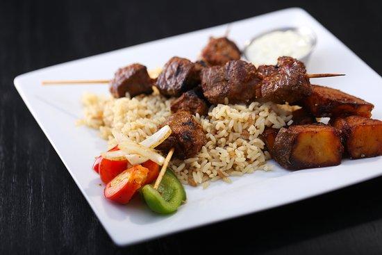 Beef Souvlaki plate