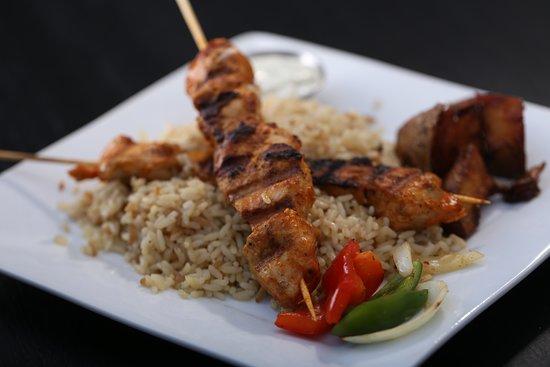 The Kasbah Mediterranean: Chicken Souvlaki Plate