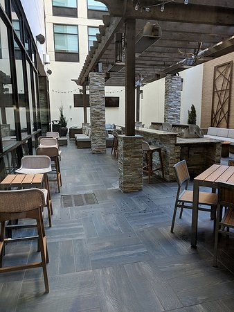 Outdoor dining, including grills and fire pits