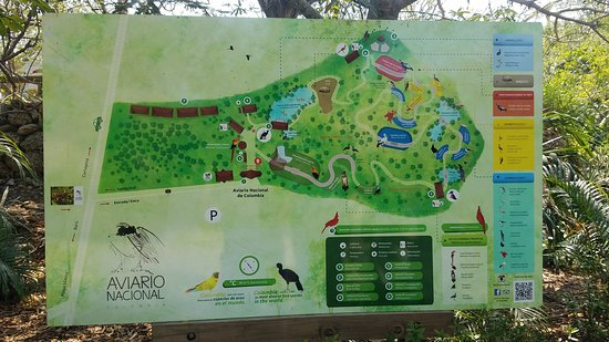 Map at the National Aviary of Colombia - Picture of Eco Plan ... Cartagena Colombia Map on