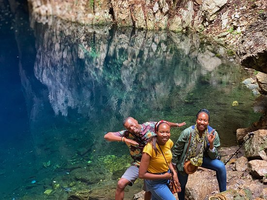 Chinhoyi Caves is one of the hidden gems in Zimbabwe. It's a 120km away from Harare, the capital city.  A South Africa traveler visited Zimbabwe for the first time and we took a day trip with him and we instantly became friends sharing our travel stories from around the world. Chinhoyi Caves is usually a day trip or you can camp over night if you want to camp overnight there are great facilities and a camping space at the reserve. #visitZimbabwe #travelAfrica #ChinhoyiCaves