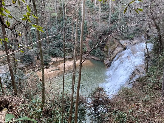Tiger Creek Falls Inn: This is the Tiger Creek and the falls that run through the property