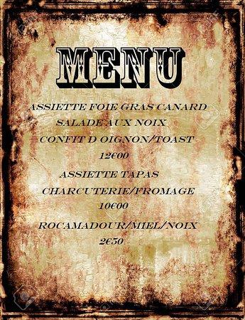 Labyrinthe Le Minotaure: menu 2019