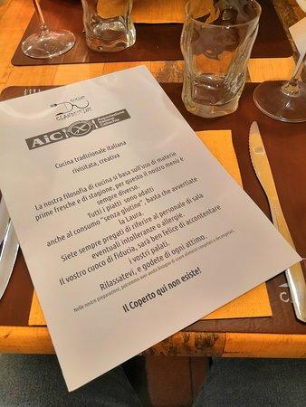 Fronte Del Menu Foto Di Cucine Clandestine Reggio Emilia Tripadvisor