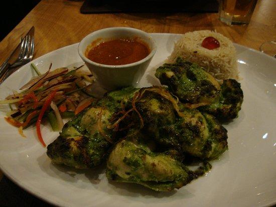Mango Indian: um dos pratos principais