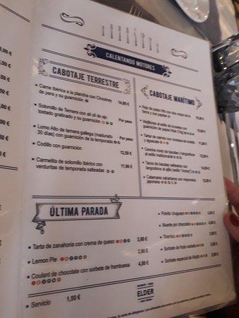 Carta Picture Of Restaurante Terraza Elder Las Palmas De