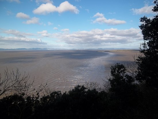 Weston-super-Mare, UK: A view of Sand Bay from the Glade inside the hill fort. There are some beautiful views of the surrounding coastline from various points on the hill.