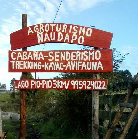 Queilen, Чили: Letrero carretero de acercamiento al servicio