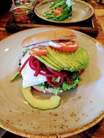 Cognito: Avocado Egg 'n Cheese Burger