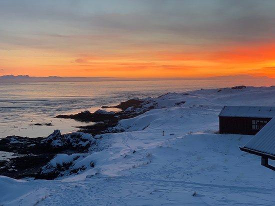 Budir, ไอซ์แลนด์: Sunrise from rooftop
