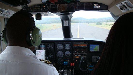 Despegando de Ceiba con Air Flamenco