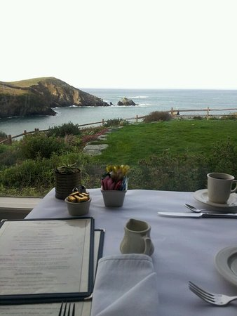 Albion, CA: Breakfast view with your complimentary full breakfast