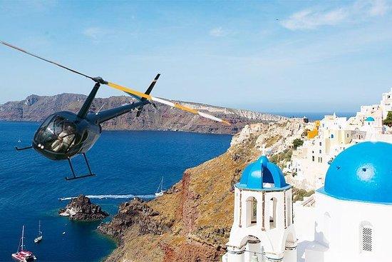 Santorini helicopter flight...