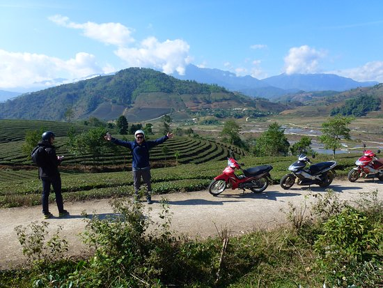 One day riding motorbike from Sapa to Tan Uyen district and visit the tea farm. We had a beautiful day driving through the tea farm and see the farmer are planting rice. The trip itself is a combination of motorbike driving on the most amazing road in Viet Nam with sightseeing and walking. Along the ride, you will be able to enjoy magnificent views from the Heaven Gate pass, a short walk to Silver Waterfall, Love Waterfall as well as visit villages of Black H'mong, Lu and Thai and Black Dao.