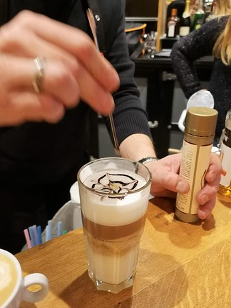 Enjoy a morning break at Le Globe with a Great coffee