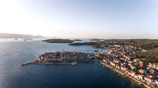 Navigare Yachting: Panorama of Korcula town on Korcula island