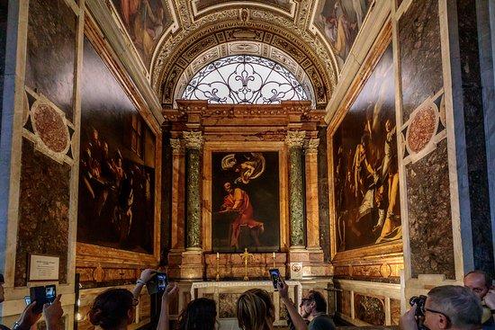 contarelli chapel picture of church of st louis of the french rh tripadvisor com  chiesa di san luigi dei francesi a roma