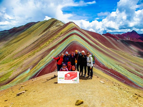 The Rainbow Mountain Vinicunca Peru