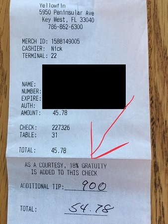 Don't tip twice!