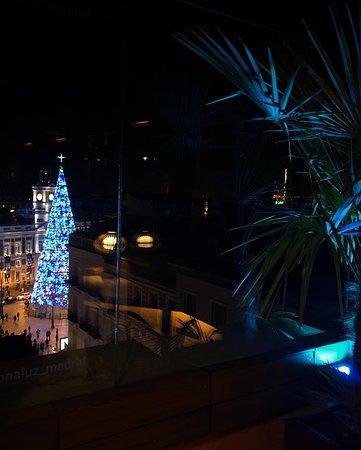 Vistas desde la terraza en navidad