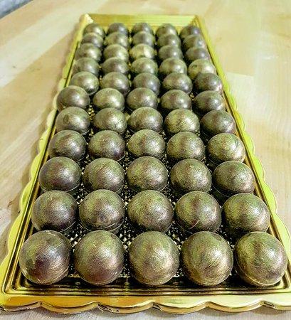 Bolle di cioccolato oro e rhum