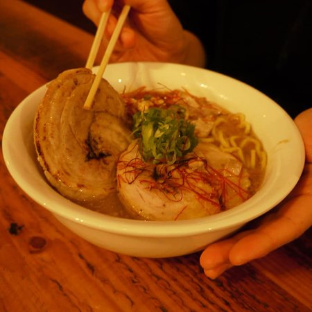 Battambang Province, Kambodscha: **Meat Lovers Ramen** Enjoy our melty Char Siu(pork belly). It has been cooked for 4hours. ❤️😍SUPER melty and juicy😍❤️ Perfect combination with our AMAZING ramen!!!