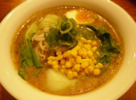Battambang Province, Kambodscha: **Vegetarian Miso Ramen** Vegetable thick soup and homemade miso. 💛💚RICH and HEALTHY💚💛You won't regret for the veg ramen even if you're on special diet!!! Our aim is to look after your health.