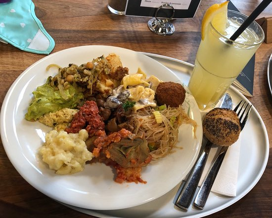 """I was hesitant to go to the """"new buffet"""" in town for lunch but I wa a pleasantly surprised. My friends suggested it as I follow a vegan diet: this place was amazing.<br/>The decor is lovely, you don't feel like you're in a tacky buffet. <br/>I cannot get over the food options for a vegan! My plate was stacked! I figured I'd try everything I could, my plate was packed. I even went back for dessert! If you're vegan, you,k understand what a treat that was!<br/>This is a great place for a group (reservations for groups over 6) because it's self serve so there's no waiting for everyone's food to arrive at once, <br/><br/>I will be returning!"""