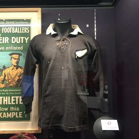 World Rugby Museum: Vintage All Blacks shirt