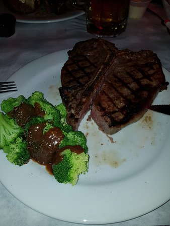 Porterhouse with a side of Broccoli and Mannys Gravy