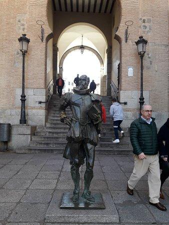 foto com Cervantes
