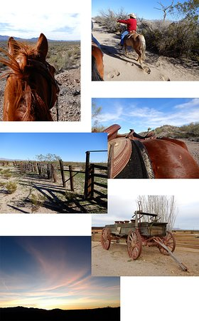Yucca, AZ: Desert views, western memorabilia, and a sunset.