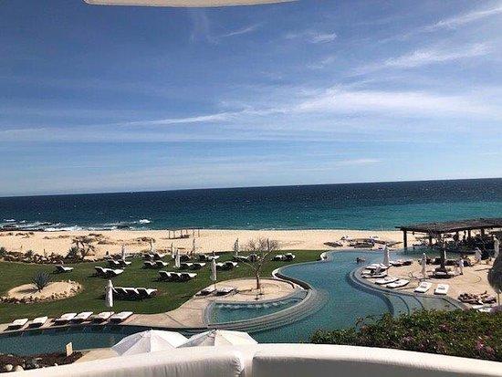 View of beach pool and ocean