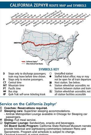 Map Of California Zephyr Route.Price Utah Sunrise Picture Of California Zephyr California