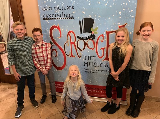 Johnstown, CO: The kids all enjoyed their first dinner theater experience.