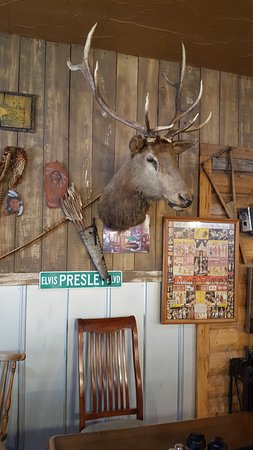 Interlachen, FL: Typical wall decor at the Smokehouse bbq.